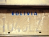Bolivia, the licence plate of my rent a car after returning from the Yungas expedition.