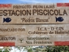 "On the way I found this sign: ""Estacion Piscicola"", an  aquaculture sponsored by the Dutch Government and responsible for the project is the Veterinar ies without Frontiers. But there was no one and no fish…"